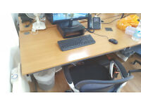 4 beech office desks (1200 by 800) - excellent condition