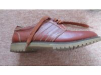 Mens Marbot Brown Leather Shoes Size 8