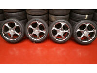 Wolfrace EuroSport Matrix alloy wheels 17 + 4 x tyres 215 45 17 Ford ,Volvo,BMW and more
