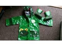 Kidorable Never Worn Jacket/Rain Mac Age 2 & Worn Wellies Size Toddler 5
