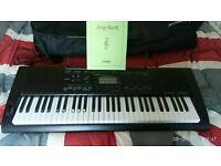 Electric keyboard Casio CTK-3000, unused, with carrier bag, legs & 90-songs book
