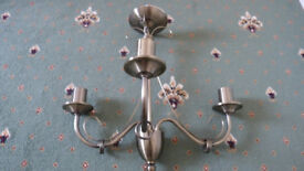Antique Brass/Silver effect 3 Bulb Ceiling Lights