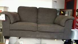 Brown 2 seater sofa BRITISH HEART FOUNDATION
