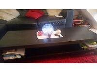 Long black coffee table