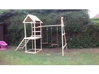 climbing frame and swings