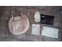 Genuine Leather Sugarjack Ava Nappy Bag in Nude