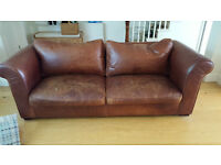 Amazing but very loved leather 3 seater sofa