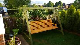 3-4 Seater Larch Wood Wooden Garden