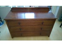 Oak Chest Of Drawers - Antique