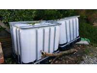 IBC containers 640ltr as pictured.