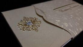 Luxury Asian Wedding Invitation (Pakistani Indian Shaadi Card)