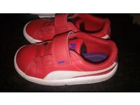 RED TODDLER PUMA TRAINERS