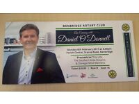 Daniel O'Donnell tickets Monday 6th February Parish Centre Banbridge