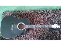 Black Semi-Acoustic Copeland Guitar W/ Hard Case + 40W Cabinet Speaker