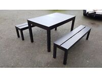 Ikea BJURSTA Extending Table 175cm - 260cm & 2 Benches FREE DELIVERY (03123)