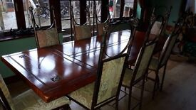 Dining table & 8 chairs + matching sideboard