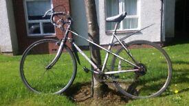 White old school racer bike