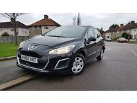 2012 62 plate Peugeot 308 1.6 Diesel Manual Black, £20 annual tax