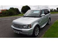 "LAND ROVER RANGE ROVER SPORT 2.7TDV6 SPORT,2008,BLACK LEATHER,20""ALLOYS,SAT NAV,CRUISE,PRIVACY GLASS"