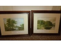 Two Prints One of Lake Windermere and one of cottages by the river £15 for both ono