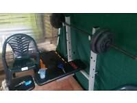 Weight set + bench