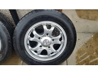 FORD TRANSIT ALLOYS with TYRES
