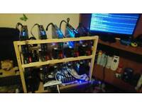 Mining rig 10 x gpus amd radeon rx580 300mh/s