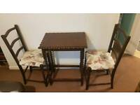 Mini dining table set - L23xW17xH29