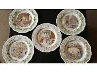 Royal doulton brambly hedge plates