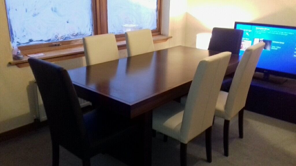 stunning ex sterling dining table with 6 matching dining chairs. stunning ex sterling dining table with 6 matching dining chairs