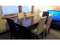 stunning ex sterling dining table with 6 matching dining chairs