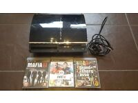 Sony Playstation 3 (PS3) & 3 Games