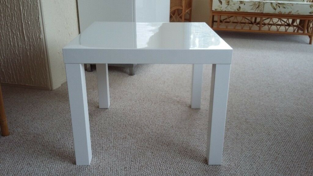 Ikea Lack White High Gloss Coffee Table