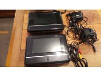 2 x Wharfedale Portable DVD Players - 7""