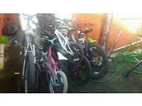 13 bike frames a few full bikes and tyres**