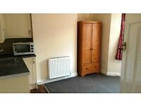newly refurbished single room with kitchenette and shared bathroom