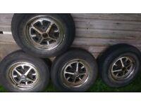 "MGB/BL Triumph 114.3mm/4.5"" PCD Rostyle Steel Wheels"
