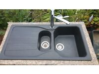 Franke composit sink with mixer tap