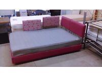 Pink European double / king size (140 x 200cm) with grey Ikea mattress