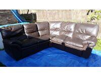 Corner sofa reclining
