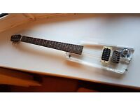 Wesley Jasper Electric Guitar - Clear Acrylic - rare