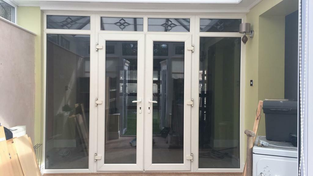 UVPC French Patio Doors and Side Panel windows