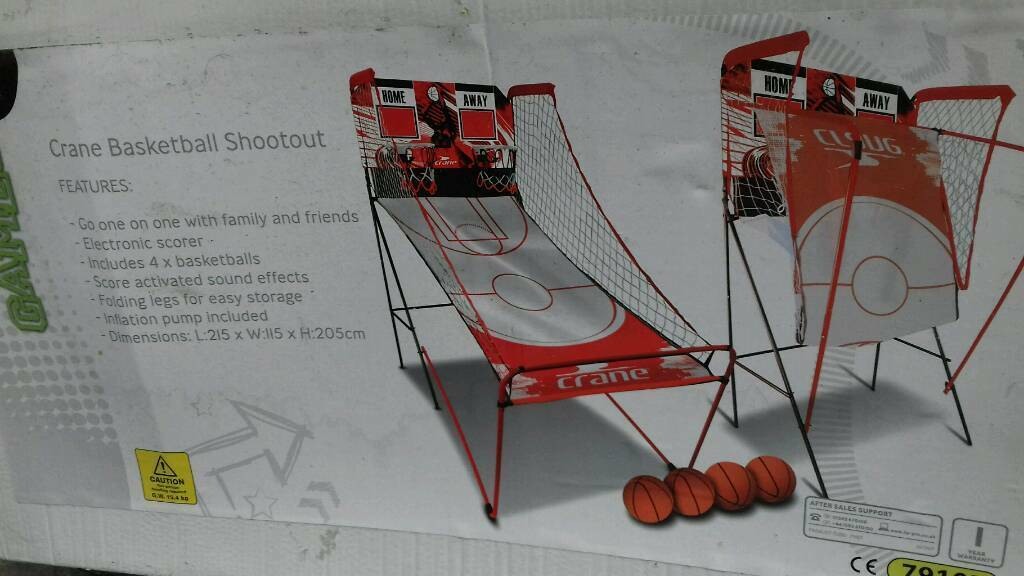 Indoor / outdoor basketball electronic 2 player set