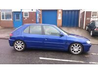 Peugeot 306 1.4 Meridian 5 door in Ford Imperial Blue with Full service History