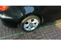 "BMW 17"" alloys & tyres X 4 good condition new tyres bargain £120"