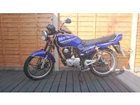 sanya 125 motorcycle blue