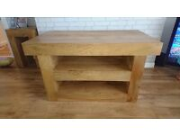 Solid Oak T.V Unit Mantis Light Natural Mango