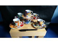Set of Expresso Cups & Saucer