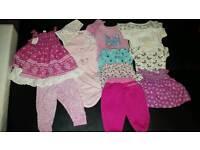 Bundle of baby girl clothing