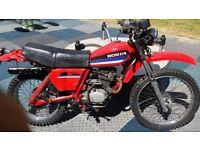 HONDA XL125s 125cc/185cc